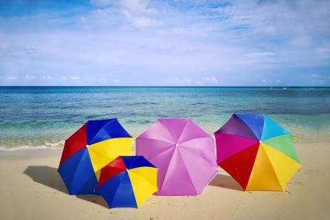 Sombrillas de colores para playa - 480x320