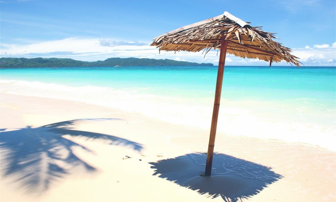 Sombrillas rusticas para playas - 1280x768