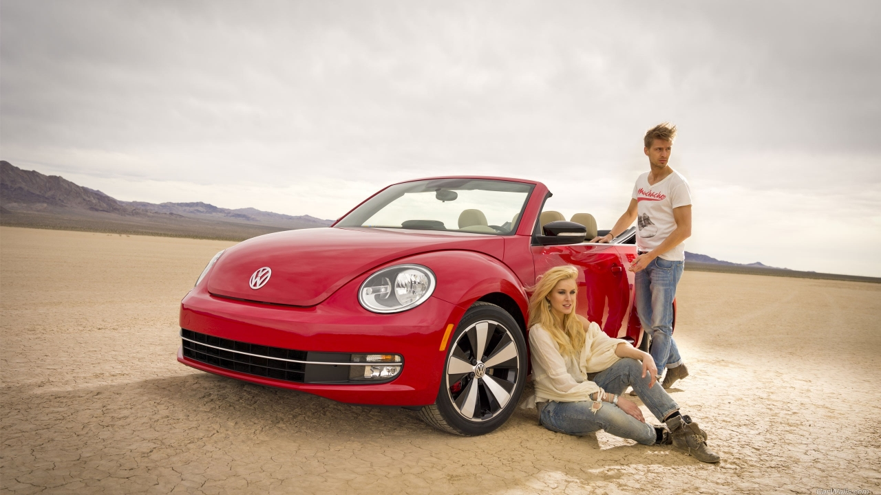 VW Beetle Rojo - 1280x720