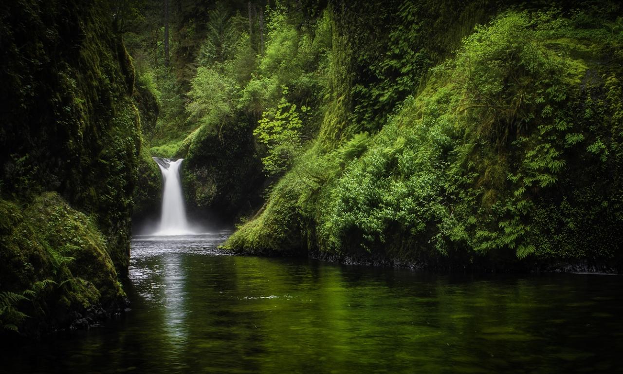 Bella caida de agua - 1280x768