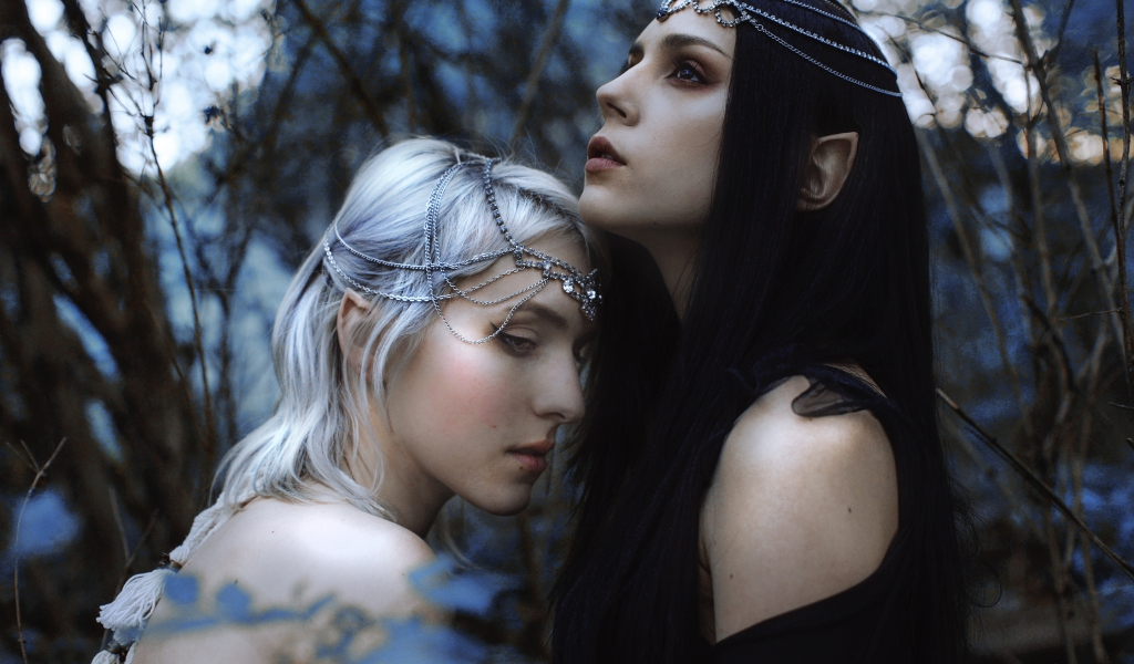 Hermosas elfos chicas 3D - 1024x600