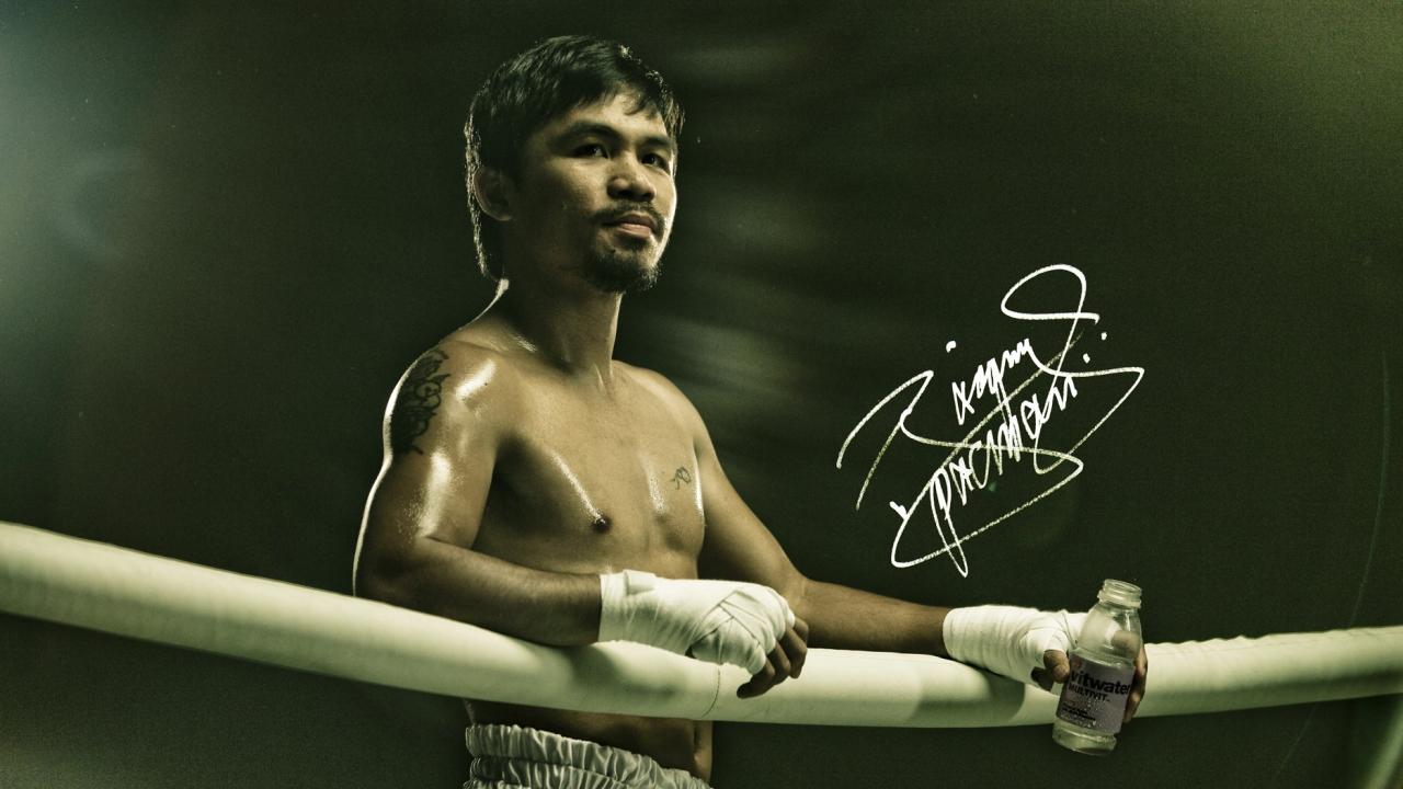 Manny Pacquiao en el ring - 1280x720