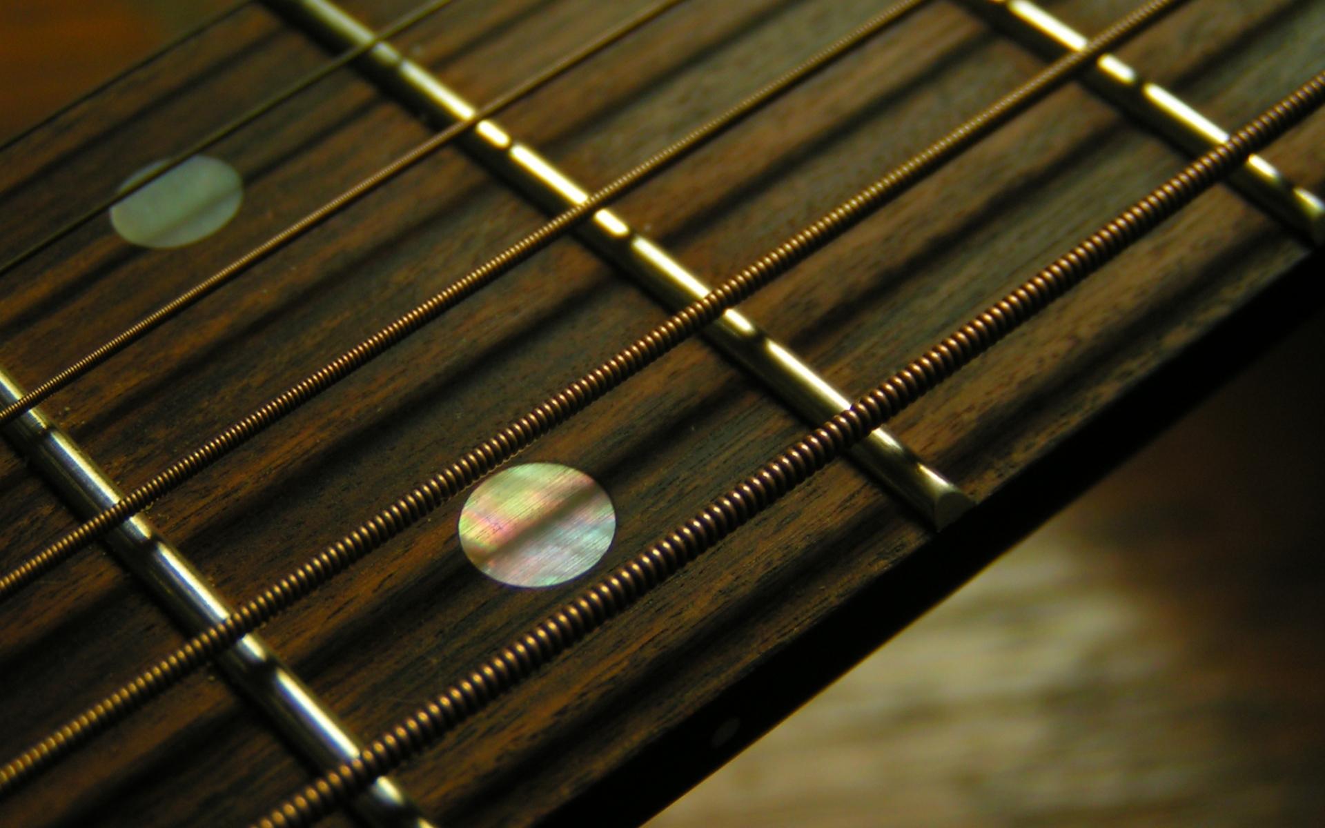 Trastes de guitarra acústica - 1920x1200