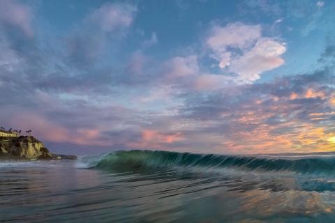 Las olas al atardecer - 480x320