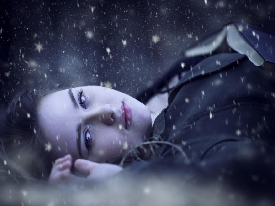 Retrato bajo la nieve - 1152x864