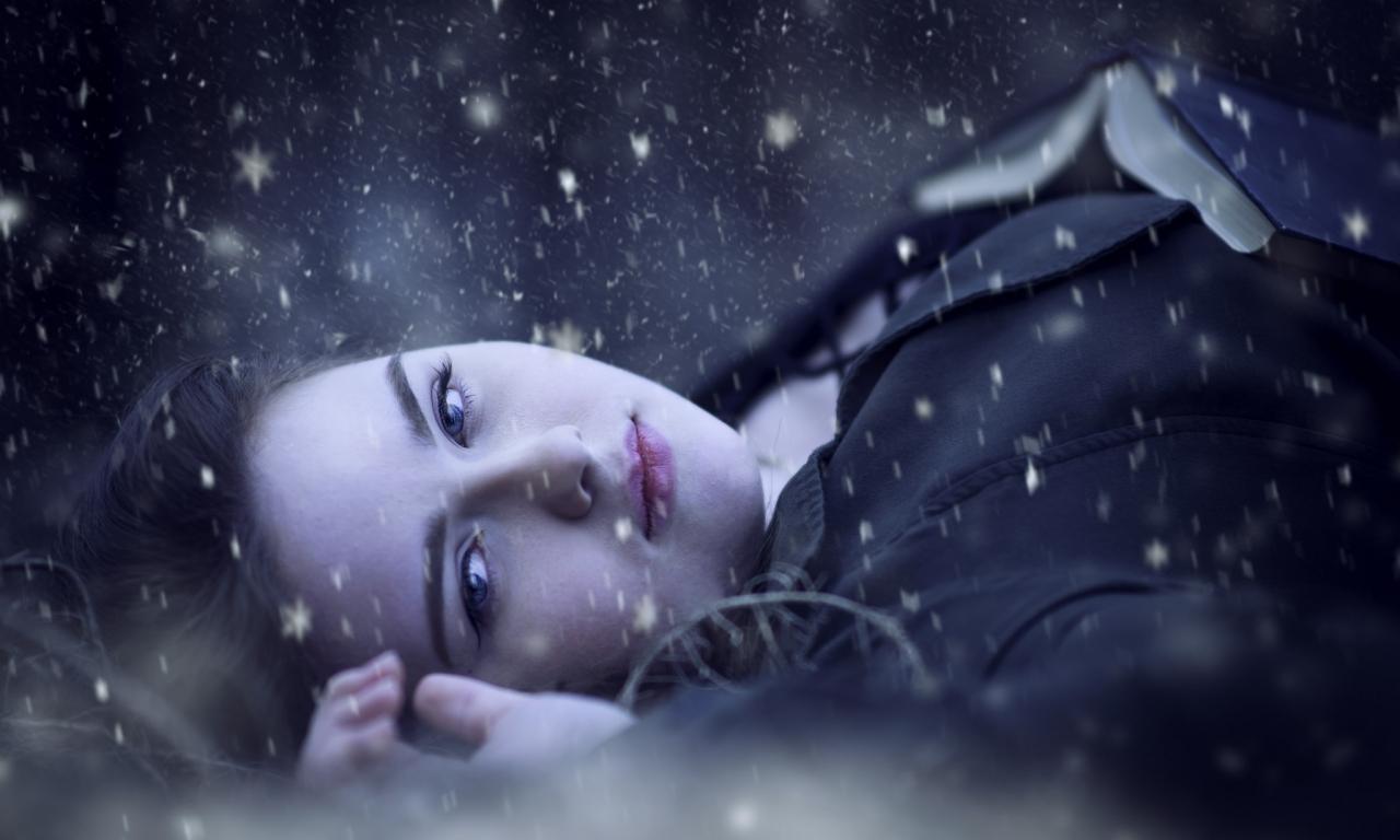 Retrato bajo la nieve - 1280x768