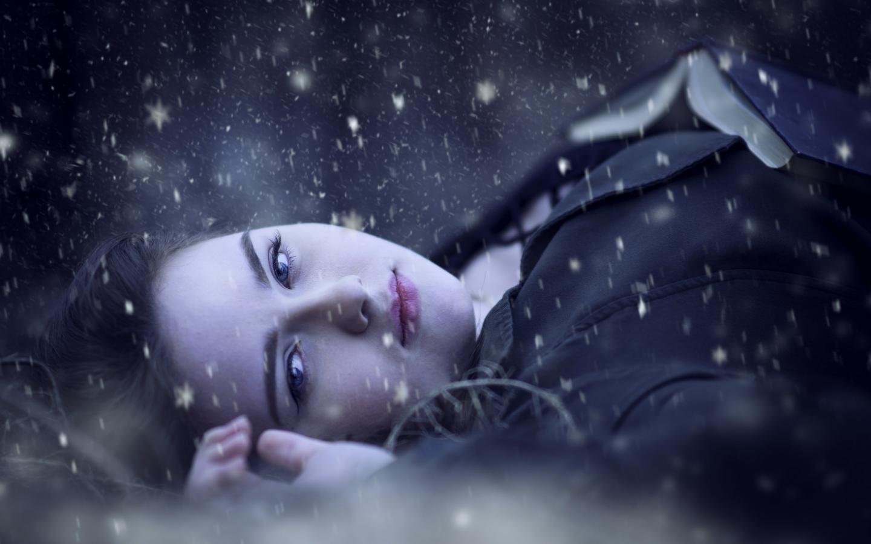 Retrato bajo la nieve - 1440x900