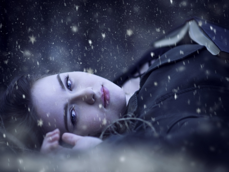 Retrato bajo la nieve - 800x600