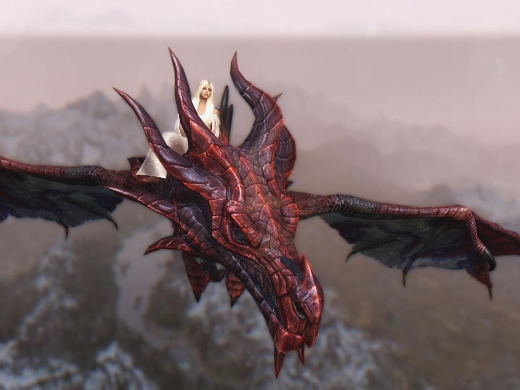 Daenerys y Drogon - 1024x768