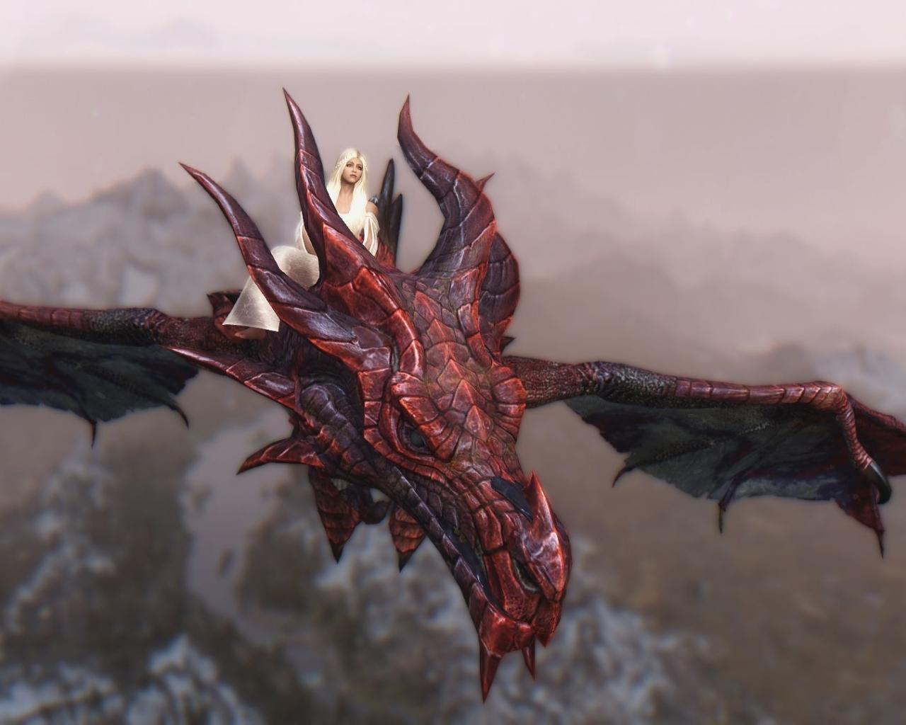 Daenerys y Drogon - 1280x1024