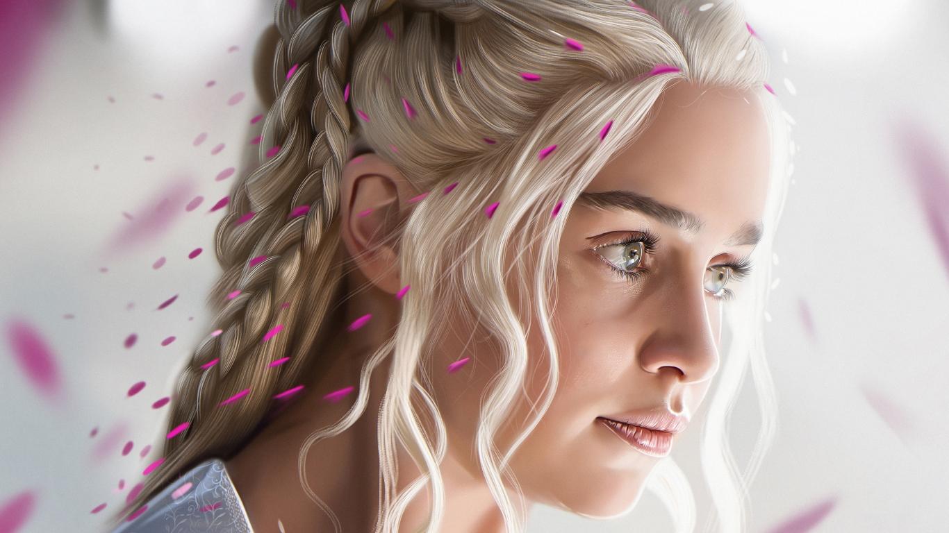El rostro de Daenerys Targaryan - 1366x768