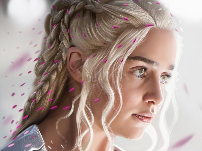 El rostro de Daenerys Targaryan - 800x600