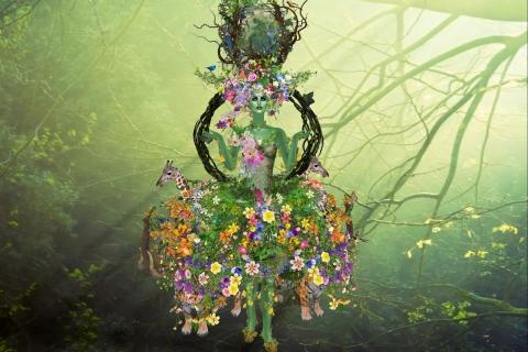 Flores y la madre abstracta - 480x320