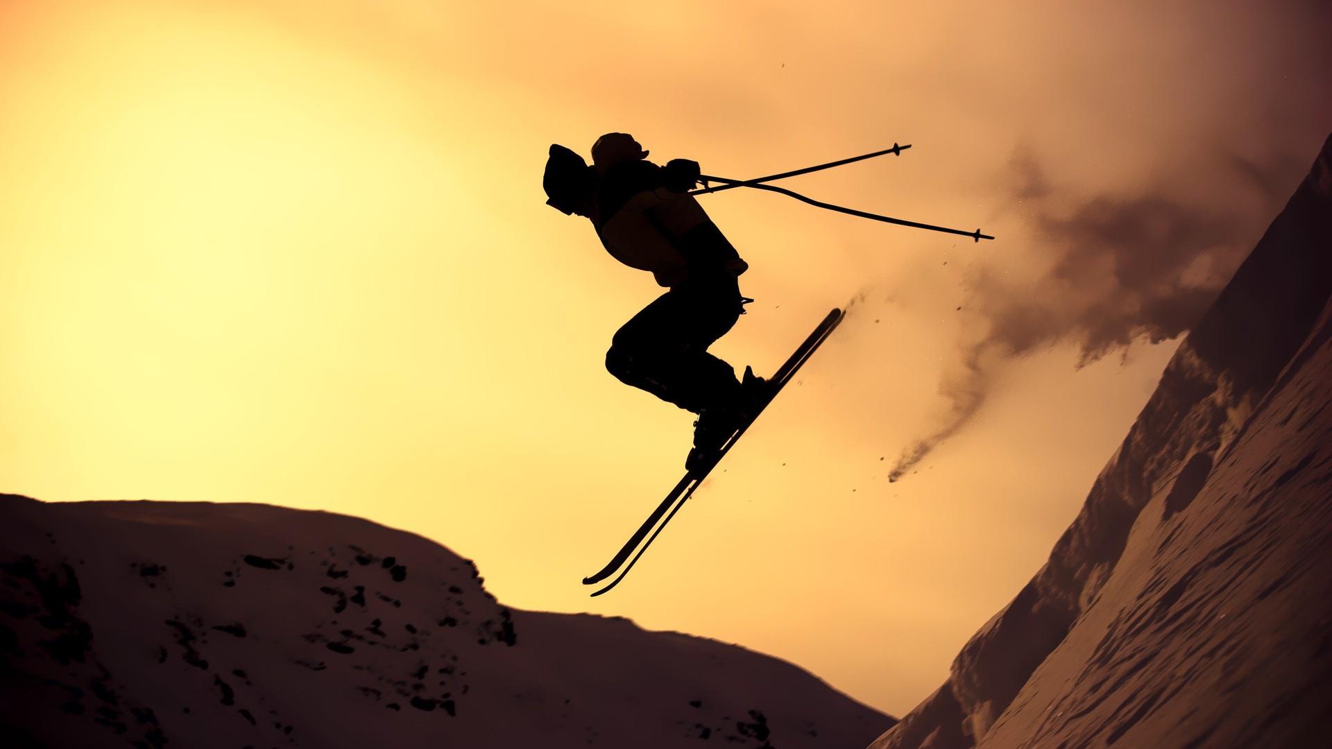 Salto en esquí - 1920x1080