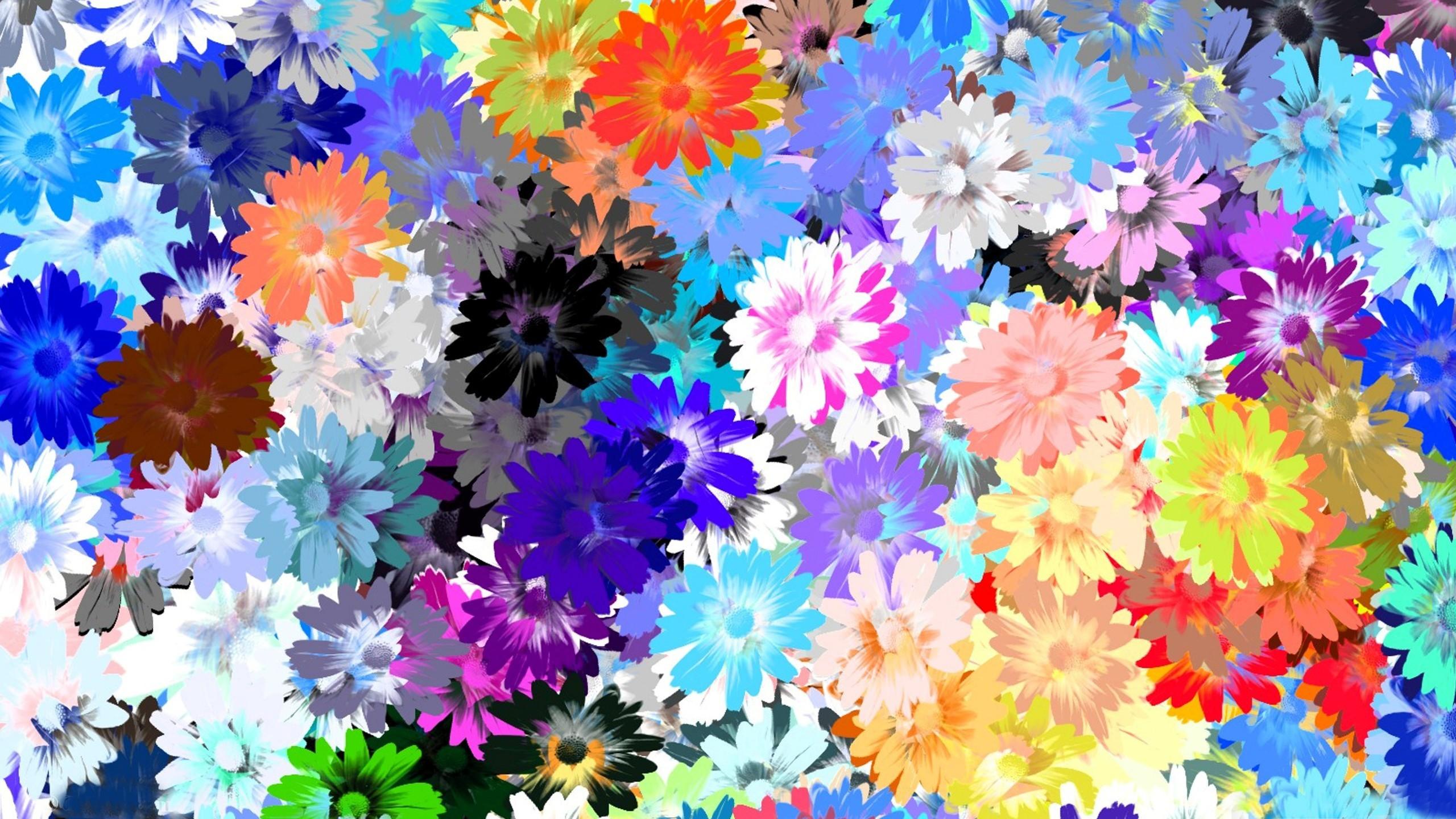 Textura de flores - 2560x1440