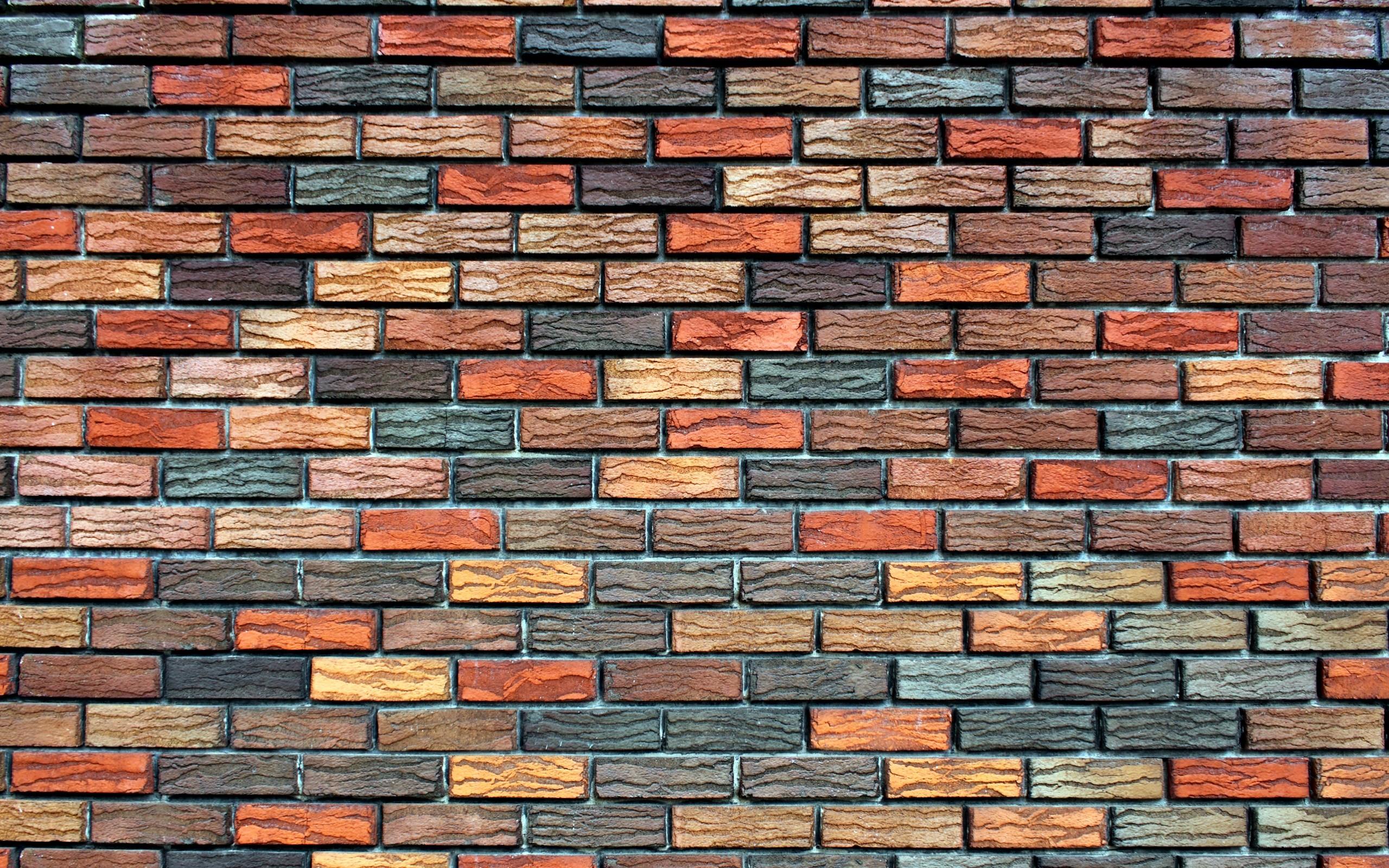 Textura de ladrillos de colores - 2560x1600