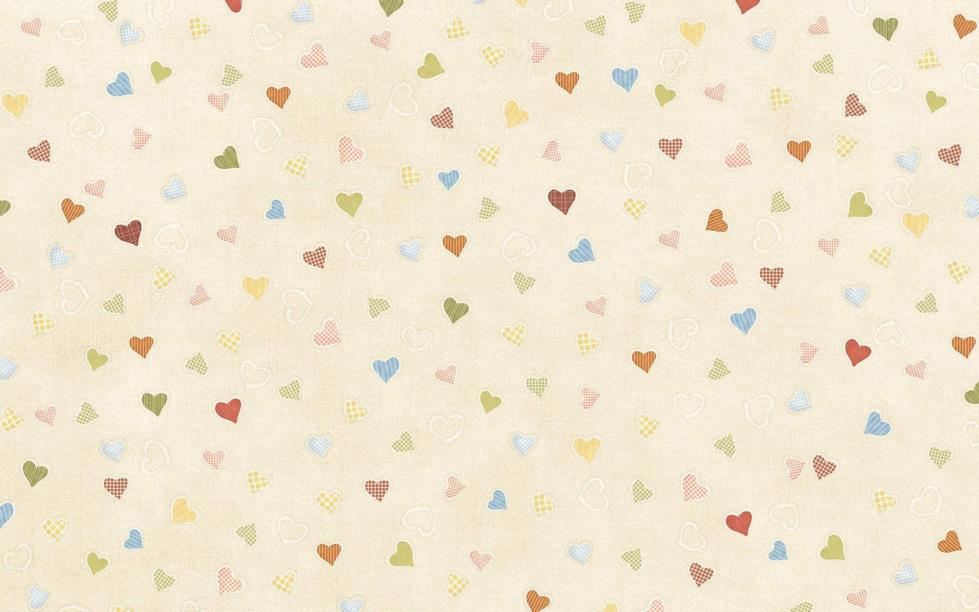 Textura de tela y corazones - 1920x1200