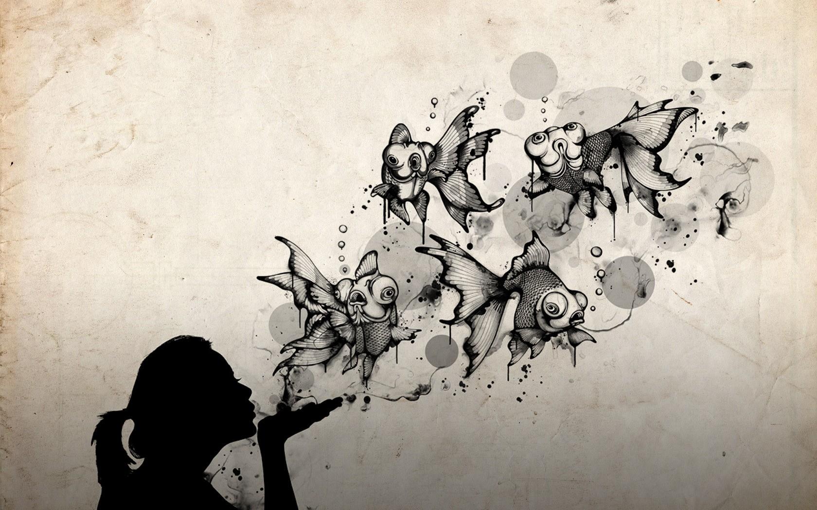 Un beso abstracto - 1680x1050