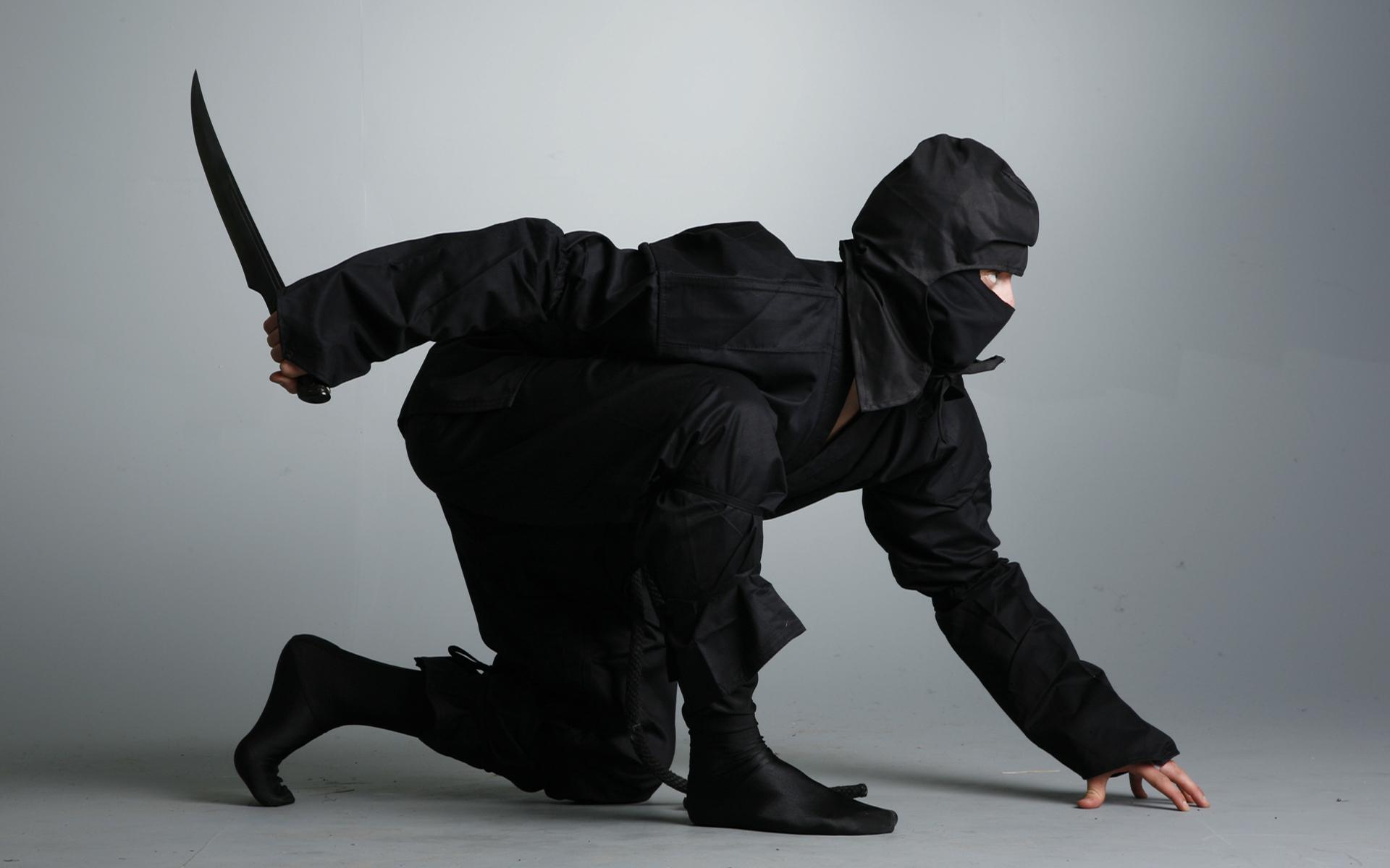 Un ninja de negro - 1920x1200