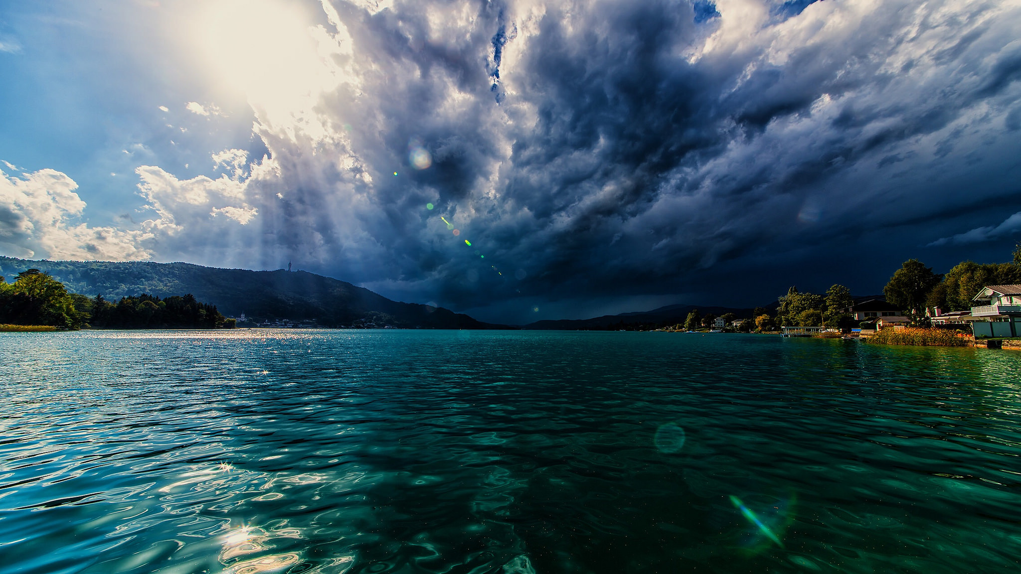 Una increíble vista del mar - 2048x1152