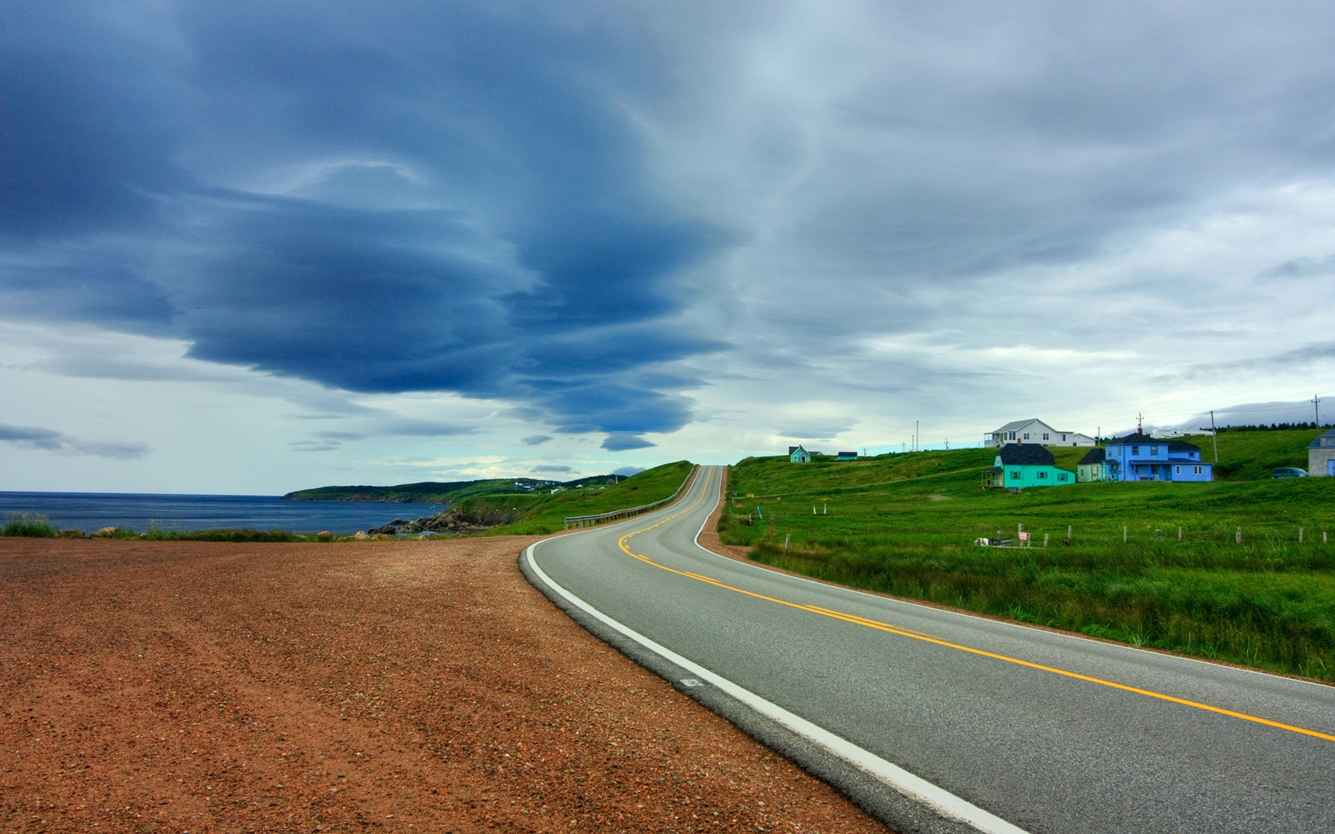 Una pista en paisaje - 1920x1200