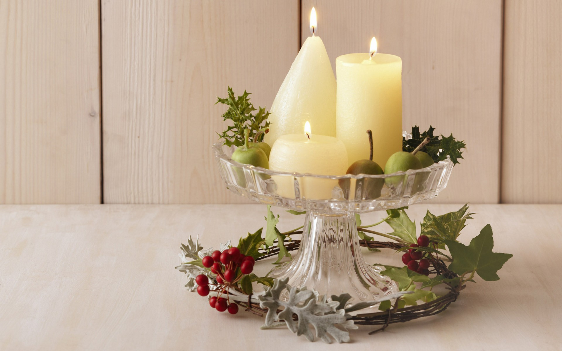 Velas de adorno para navidad - 1920x1200