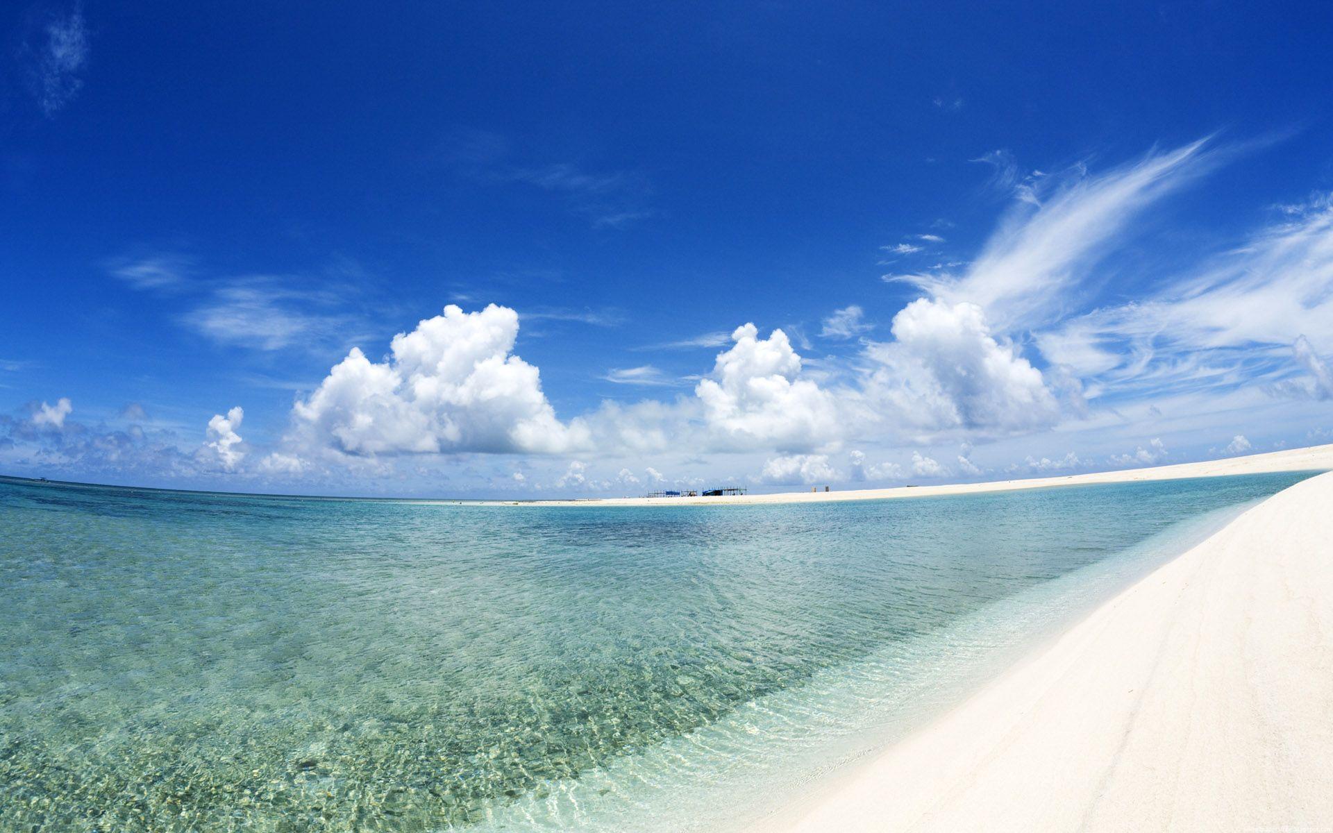 Vista angular de playa - 1920x1200