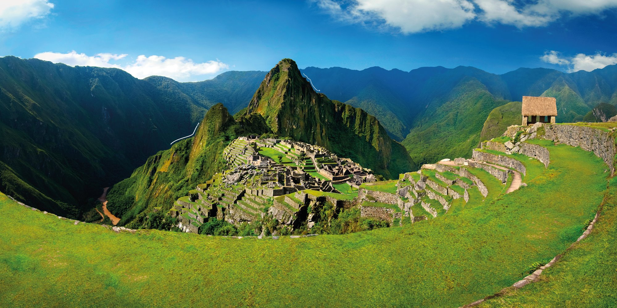 Vista panorámica de Machu Picchu - 2000x1000